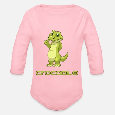 Crocodile Crocodile - crocodile - Organic Long-Sleeved Baby Bodysuit