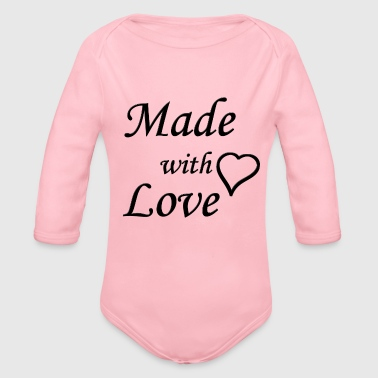 Made wiht Love - Baby Bio-Langarm-Body