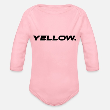 Yellow Yellow Yellow Statement - Organic Long-Sleeved Baby Bodysuit
