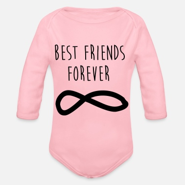 Best Friends Best Friends Forever / Best Friends - Organic Longsleeve Baby Bodysuit