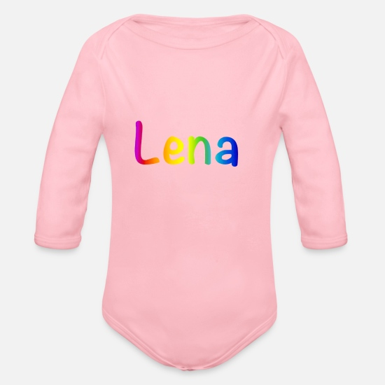 Colour Baby Clothes - Lena - Organic Long-Sleeved Baby Bodysuit light pink
