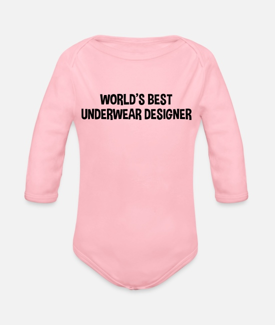 Designer Baby Bodysuits - worlds best underwear designer - Organic Long-Sleeved Baby Bodysuit light pink