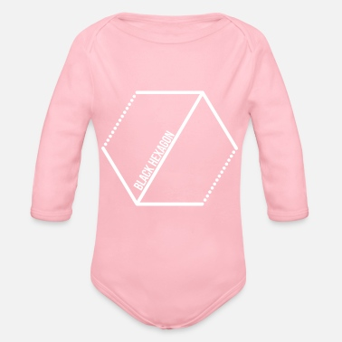 Hawk Black Hexagon - Black Hexagon! Gift idea! - Organic Long-Sleeved Baby Bodysuit