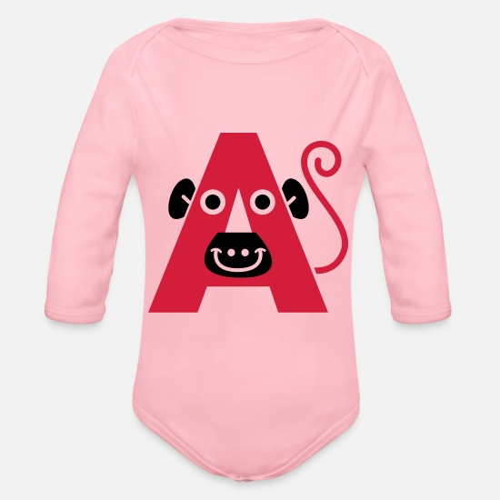 Kinder Babykleidung - letter a - Baby Bio Langarmbody Hellrosa