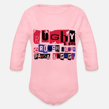 Scrum Rugby rugby scrum - Organic Long-Sleeved Baby Bodysuit
