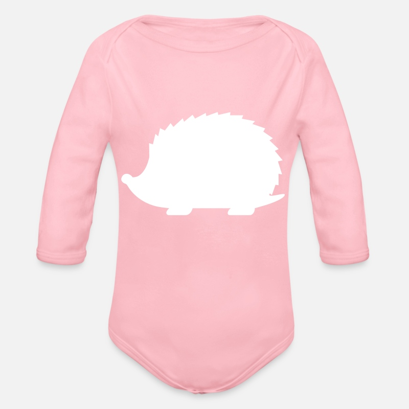 Bestsellers Q4 2018 Baby Clothing - Hedgehog - Organic Long-Sleeved Baby Bodysuit light pink