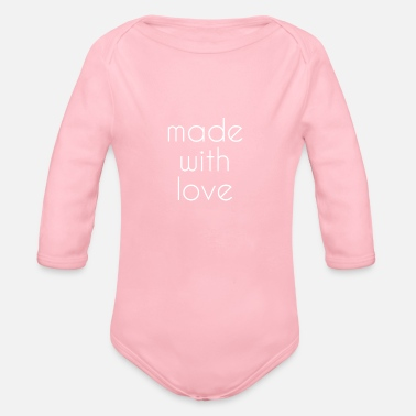 Love - Organic Long-Sleeved Baby Bodysuit