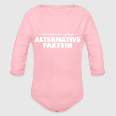 ALTERNATIVE FAKTEN - Baby Bio-Langarm-Body