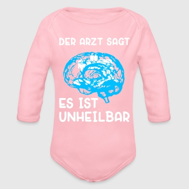 The doctor says sewing sewing machine - Organic Longsleeve Baby Bodysuit