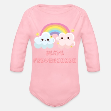 Best Friends Best Friends Best Friends Best Friends Cloud - Organic Long-Sleeved Baby Bodysuit