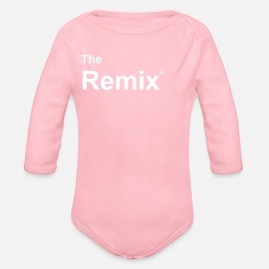 Fathers Day remix together with original father / son - Organic Long-Sleeved Baby Bodysuit
