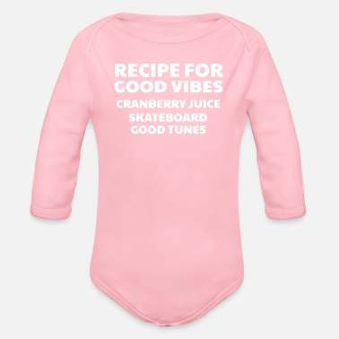 Good Ch Cranberry Vibes & Tunes Recipe for Happiness - Organic Long-Sleeved Baby Bodysuit