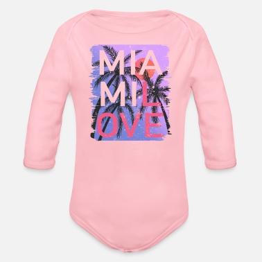 Spring Break Miami Love Vintage - Body Bébé bio manches longues