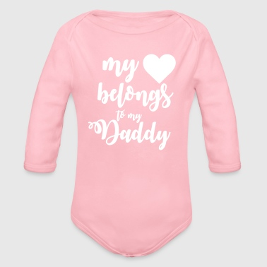Daddy My heart belongs to my daddy - Vauvan pitkähihainen luomu-body