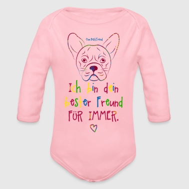 Bester Freund Frenchie - Baby Bio-Langarm-Body