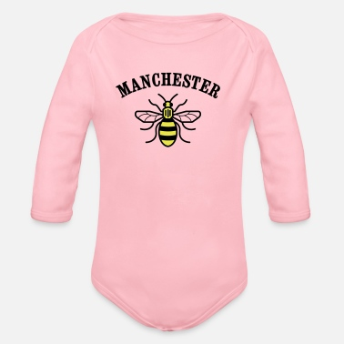 Manchester MANCHESTER BEE  - Organic Long-Sleeved Baby Bodysuit