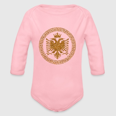 albanian_crown_m_gold - Baby Bio-Langarm-Body
