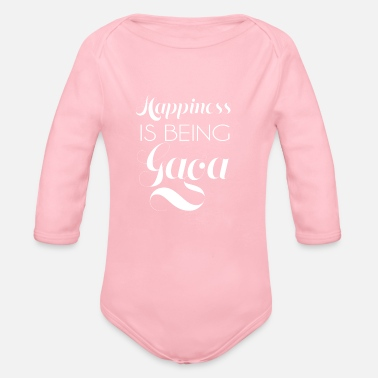happiness is being gaga - Organic Long-Sleeved Baby Bodysuit