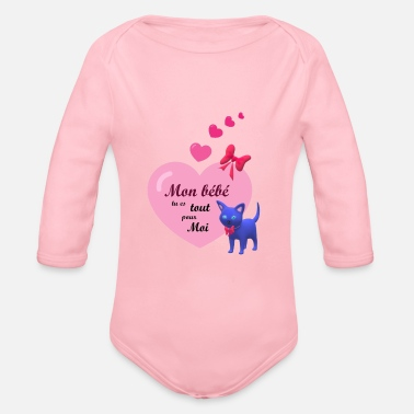 MY BABY YOU ARE ALL FOR ME - Organic Long-Sleeved Baby Bodysuit