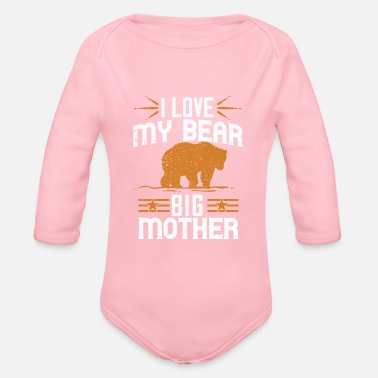 Raider Grizzly Bear Brown Bear Nature Forest Gift 32 - Organic Long-Sleeved Baby Bodysuit