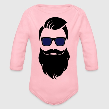 Hipster barbe - Body bébé bio manches longues