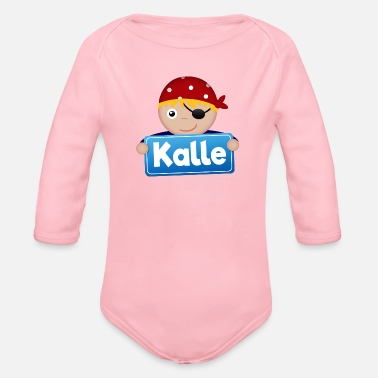 Kalle Little pirate Kalle - Organic Long-Sleeved Baby Bodysuit