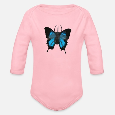 Beetle-Butterfly - Organic Long-Sleeved Baby Bodysuit