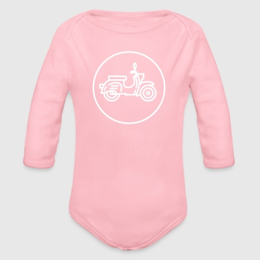 Moped swallow - Organic Longsleeve Baby Bodysuit