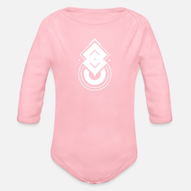 Abstract Abstract symbol - Organic Long-Sleeved Baby Bodysuit