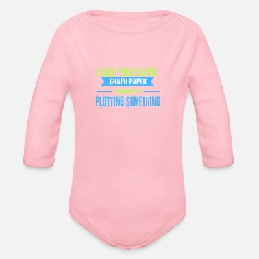Mathematics MATHEMATICS SHIRT GIFT MATHEMATICS FUNNY - Organic Long-Sleeved Baby Bodysuit