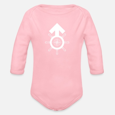 Maritime Masculinity Symbol Compass Gender - Organic Long-Sleeved Baby Bodysuit