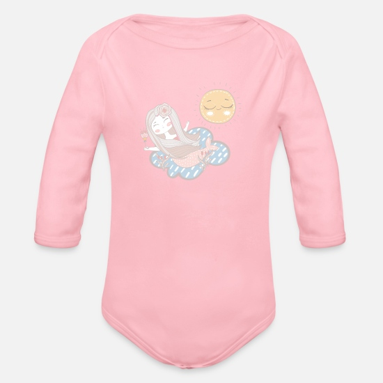 Mermaid Baby Clothes - mermaid | such a - Organic Long-Sleeved Baby Bodysuit light pink