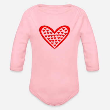 Heart Gal Heart in the heart - Organic Long-Sleeved Baby Bodysuit