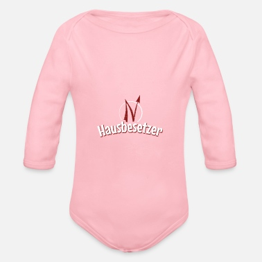 Squatters Squatter - homeowners - landowners - Organic Long-Sleeved Baby Bodysuit