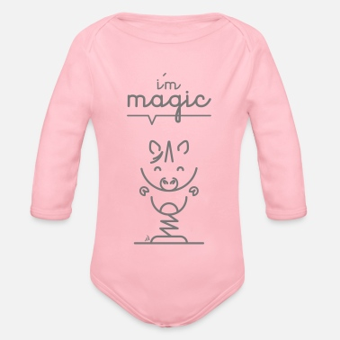 Message Unicorn message - Organic Longsleeve Baby Bodysuit