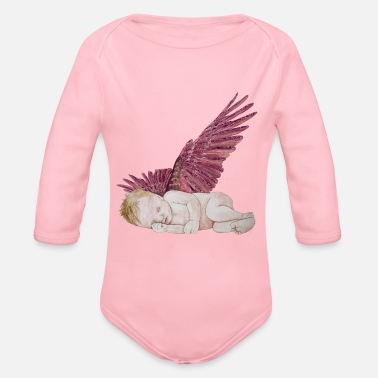 Kleiner Engel / Little angel  Version 1 - Organic Longsleeve Baby Bodysuit