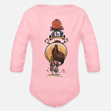 Officialbrands Thelwell Funny Riding Beginner Illustration - Organic Longsleeve Baby Bodysuit