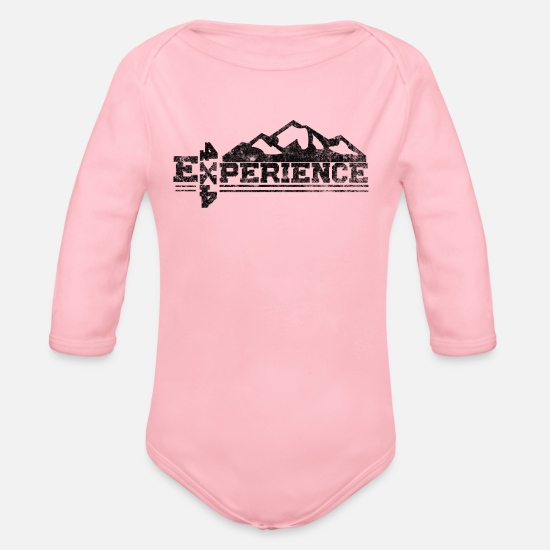 Gift Idea Baby Clothes - Offroad / 4x4 experience - Organic Long-Sleeved Baby Bodysuit light pink