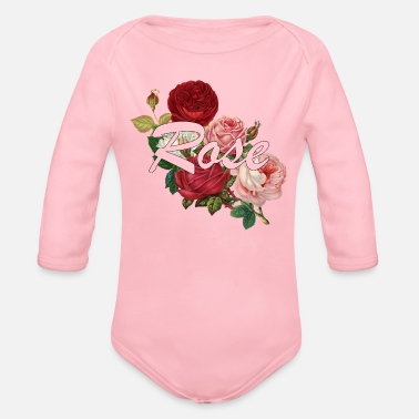 Rose Rose roses - Organic Long-Sleeved Baby Bodysuit