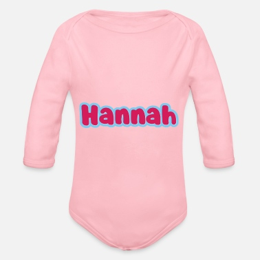 First Name Hannah name first name - Organic Long-Sleeved Baby Bodysuit