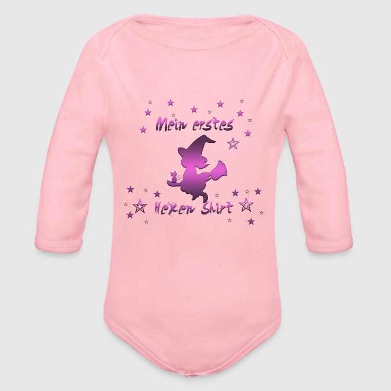 mein erstes hexen shirt baby bio langarm body von prami spreadshirt. Black Bedroom Furniture Sets. Home Design Ideas