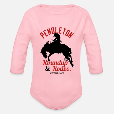 1910 Pendleton Roundup & Rodeo Since 1910 - Organic Long-Sleeved Baby Bodysuit