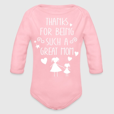 Best Mother Mother's Day Gift White - Organic Longsleeve Baby Bodysuit