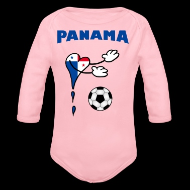 Fanshirt Fan Shirt Panama Handball Football - Body bébé bio manches longues