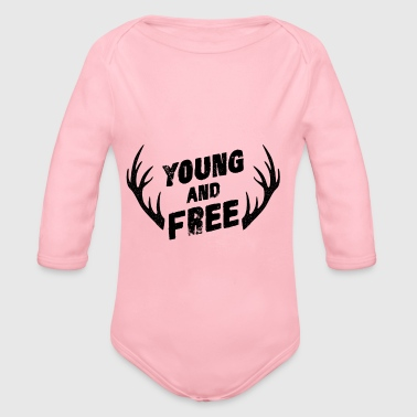 Young and Free - Organic Longsleeve Baby Bodysuit