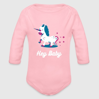 Einhorn Illustration - Baby Bio-Langarm-Body