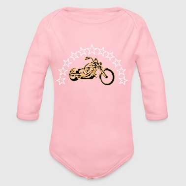 Chopper with Stars - Organic Longsleeve Baby Bodysuit
