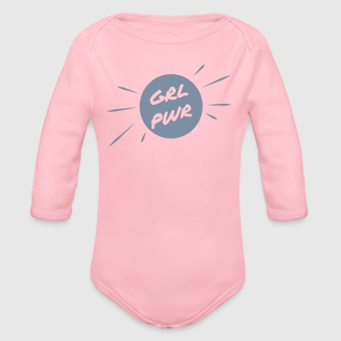GRL PWR Girl Power Girl - Ekologisk långärmad babybody