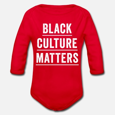 Black Culture Black Culture Matters - Organic Long-Sleeved Baby Bodysuit