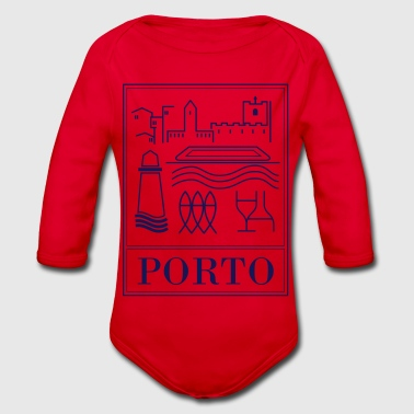 Porto collection - Organic Longsleeve Baby Bodysuit